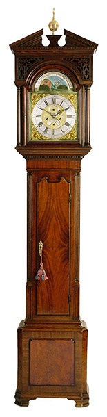 Antique English Grandfather Clock Excellent Regency Period Example