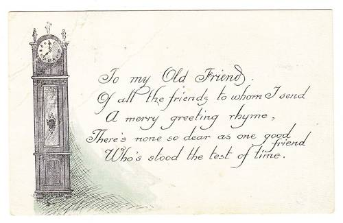 PostCard to a Grandfather Clock