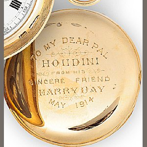 Harry Houdini Pocket Watch Engraving from Harry Day May 1914